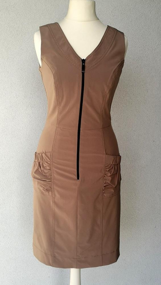 NOWA sukienka ZIP taliowana XS S...