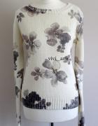 NOWY sweter w kwiaty Even&Odd XS S...