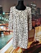 mango sukienka ciekawy wzór luźny fason jak nowa 38 M...