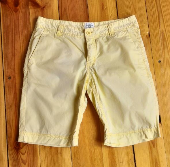 Spodnie spodenki szorty H&M 38 M żółte bawełniane...