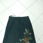 Spódnica ciepła czarna haft TU 40 L