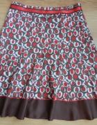 Spódnica kolorowa wzór czerwono brązowa Reserved 4...