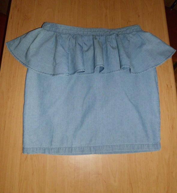Spódnice jeansowa spódnica baskinka zip 38 10 M