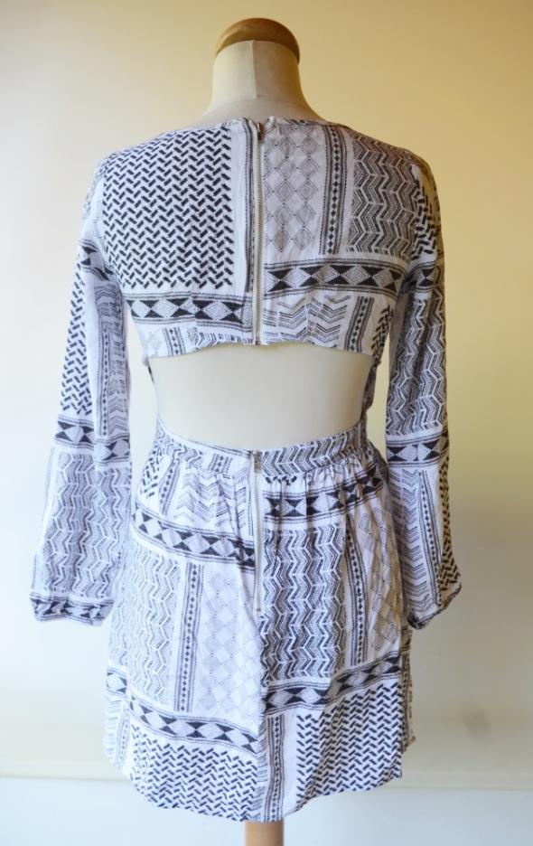Sukienka Wzory Aztec Bik Bok S 36 Odkryte Plecy Azteckie...