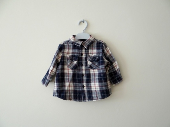 Koszula w kratę od 0 do 3 miesięcy