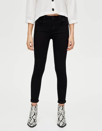 Pull&bear jeansy push up rurki czarne nowe 36 S...