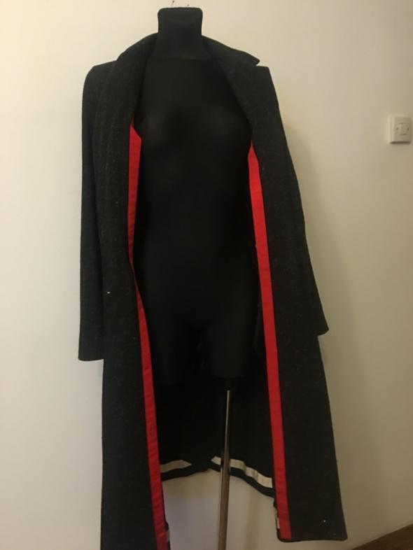 Zara Dyplomatka Płaszcz czarny melanż S na M