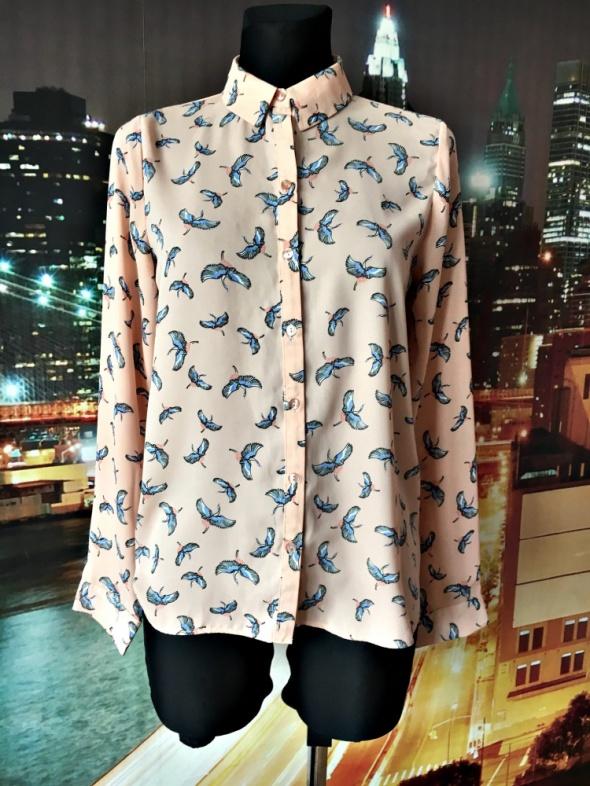 primark koszula modny wzór ptaki ptaszki jak nowa hit 36
