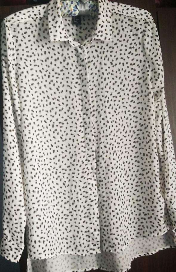 Koszula biała w gwiazdki H&M 36
