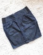 spódnica spódniczka guma zamek jeansowa kieszenie...