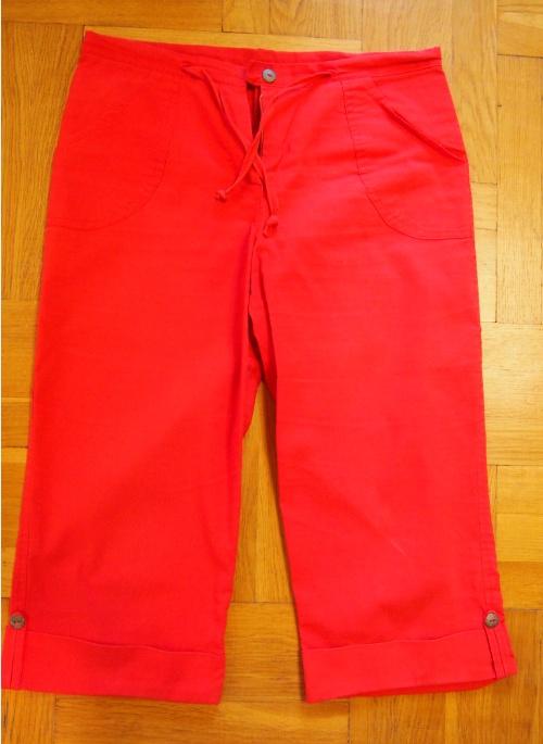 Spodnie Czerwone rybaczki 3 4