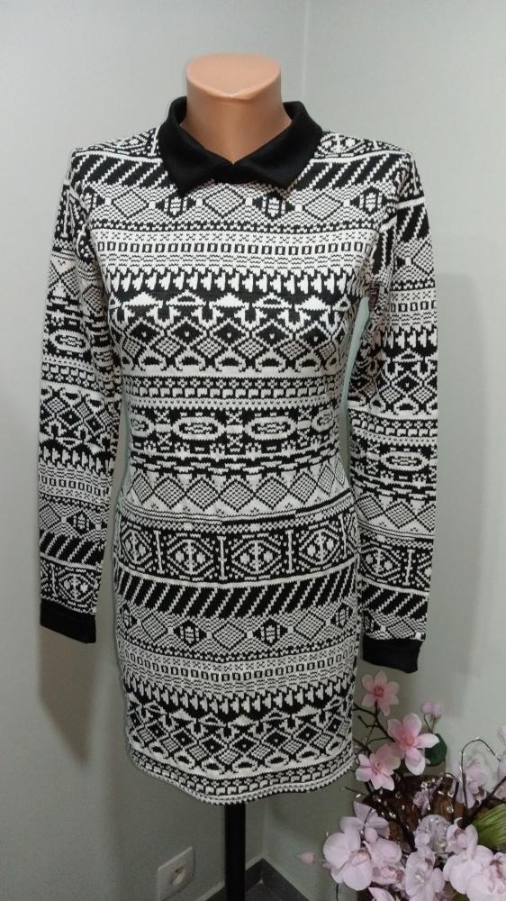 sukienka black white S