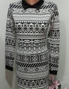 sukienka black white S...