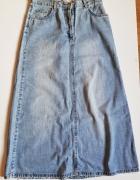 B DENIM B YOUNG Jeansowa spódnica maxi L...