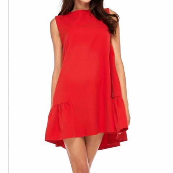 Red dress Sukienka...