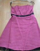 Sukienka wieczorowa różowa z tiulem 42...