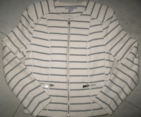 H&M marynarka damska żakiet ecru roz 36