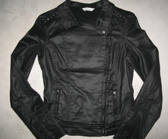 PROMOD czarna kurtka damska ramoneska roz 36