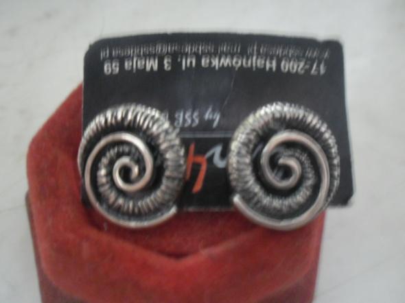 Srebrne nowe kolczyki ozdobne ślimaki