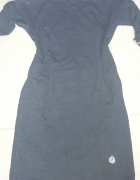 Granatowa Bawełniana sukienka S M...