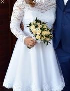 Sunia ślubna biała krótka 38 40