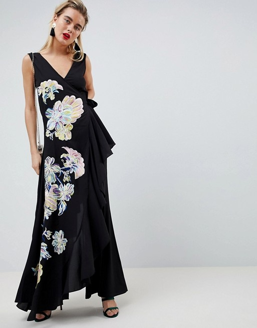 ASOS Design kombinezon haftowany elegancki oryginalny XS...