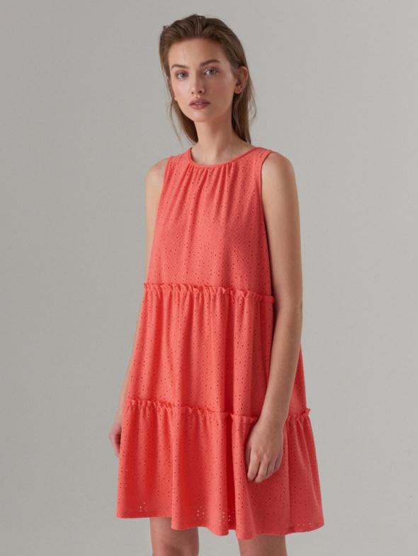 Mohito sukienka koralowa luźna oversize ażurowa L...