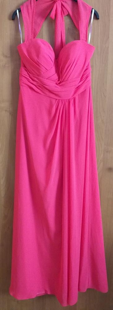 Długa suknia maxi z szyfonu różowa...