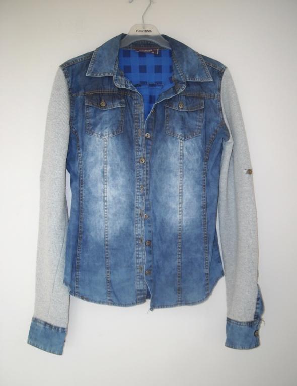 koszula jeansowa szare rękawy s