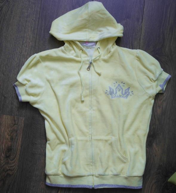 Bluzy Welurowa cytrynowa bluza 140 146