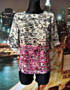 warehouse bluzka modny wzór zip casual 36 S...