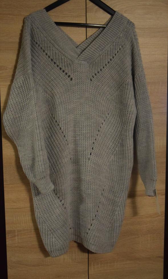 Długi sweter duży rozmiar...