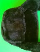 Czapka uszatka czarne futerko...