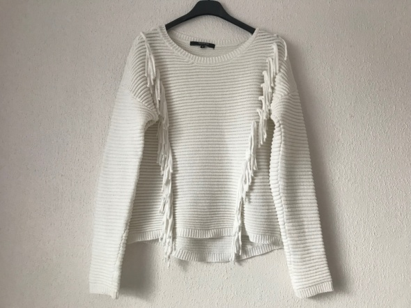 biały ecru sweter Reserved 36 S