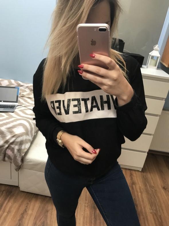 Czarna bluza siateczka M