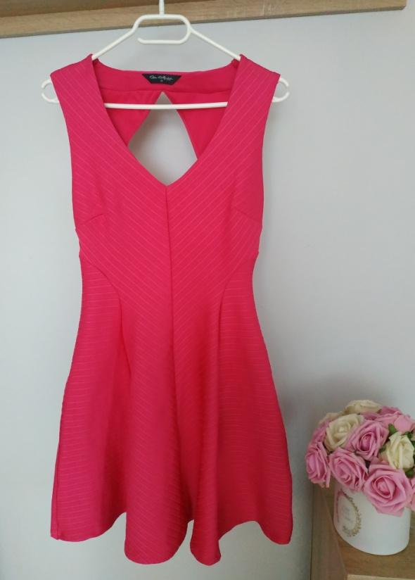 Sukienka różowa Miss Selfridge M odkryte plecy...
