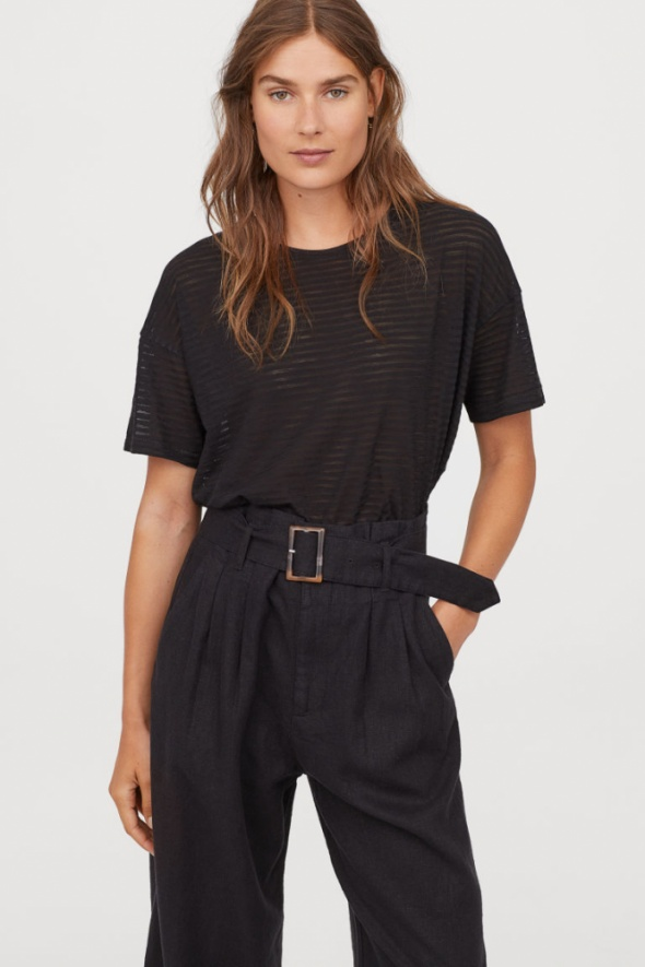 H&M szeroki tshirt