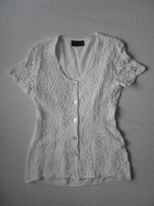 Biała bluzka koronka