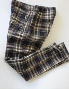 bawełniane spodnie w kratkę zara s...