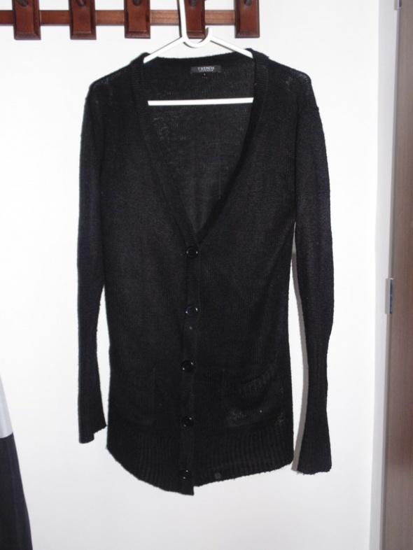 Czarny sweterek na guziki French Connection rozmiar L...