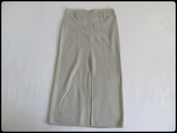 Spódnica wąska z rozcięciem szara rozmiar 36 S