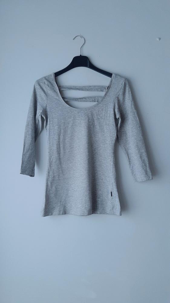Idealna szara bluzka paski reserved xs...