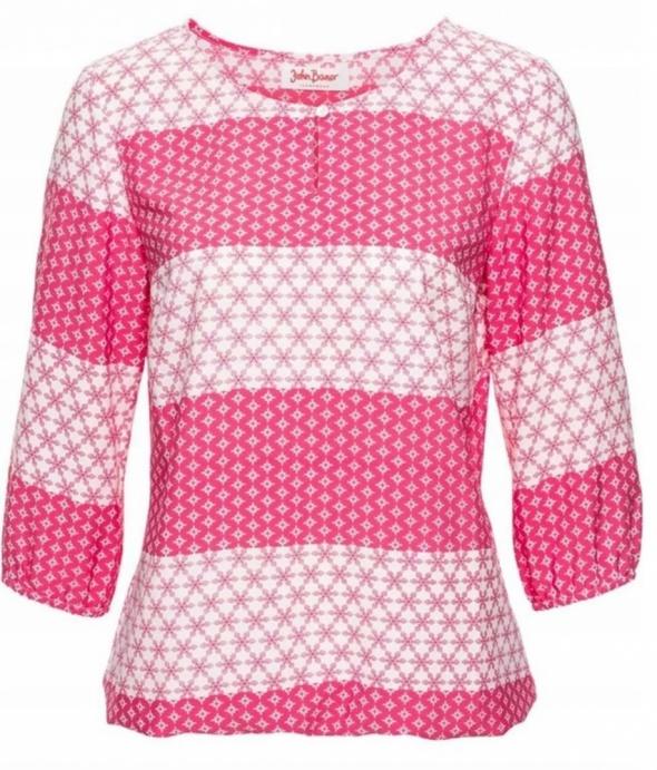 Bluzka w różowo biały deseń r 42