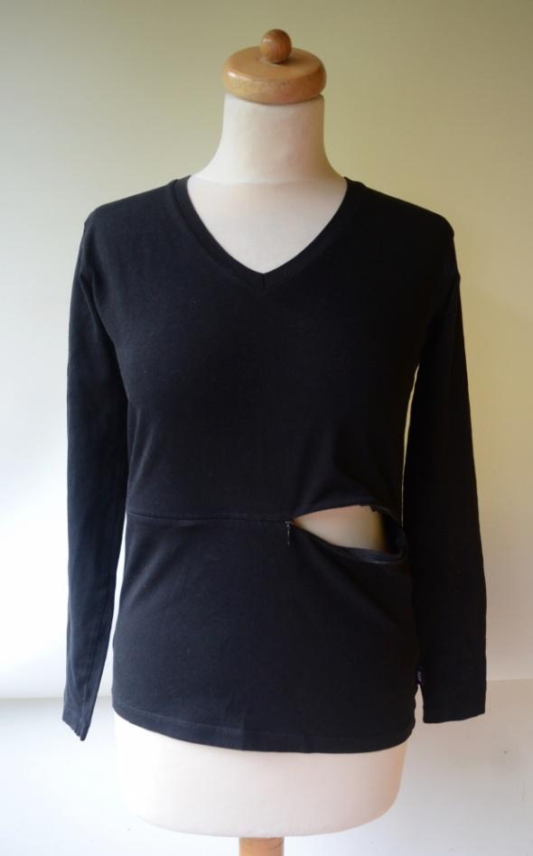 Bluzka Czarna Do Karmienia Pop M 38 Mama Długi Rękaw