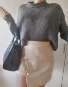 Asymetyczna Spódnica damska zip nude M L...
