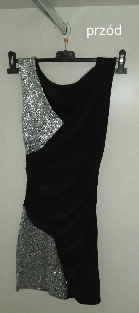 dopasowana mała czarna sukienka 36...