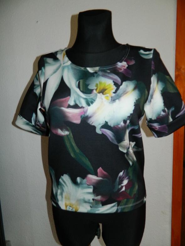 VILA bluzka z krótkim rękawem kwiaty roz S