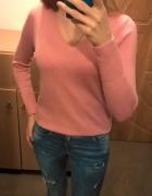 Różowy sweterek Hollister S M...