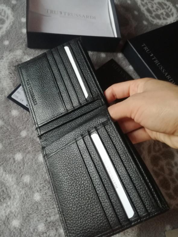 Portfele skorzany portfel tru trussardi czarny