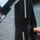 skorzany portfel tru trussardi czarny